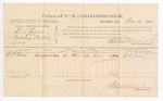 1884 December 19: Voucher, U.S. v. E.L. Jones, violating postal law; G.P. Rose, witness; Stephen Wheeler, commissioner; Thomas Boles, U.S. marshal