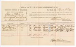1884 December 30: Voucher, U.S. v. Charles Peters, assault with intent to kill in the Indian Country; includes cost per diem and mileage; Moses Reynolds, C.D. Oakes, Henry Taylor, Thomas Chronie, witnesses; John Paterson, witness of signatures; Stephen Wheeler, commissioner; Thomas Boles, U.S. marshal