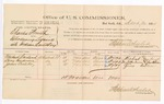 1884 December 30:Voucher, U.S. v. Charles Smith, introducing spiritous liquor in the Indian Country; includes cost per diem and mileage; Michael Garland, Tony Hudson, James Costilow, witnesses; John Paterson, witness of signatures; Stephen Wheeler, commissioner; Thomas Boles, U.S. marshal