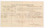 1884 December 31: Voucher, U.S. v. One Gaston, larceny in the Indian Country; includes cost per diem and mileage; William M. Bird, Andrew Colbert, Phil Culut, witnesses; John Paterson, witness of signatures; James Brizzolara, commissioner; Thomas Boles, U.S. marshal