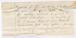 1885 April 7: Partial Voucher, U.S. v. Robert Ladadale, assault in the Indian Country; includes cost of mileage, feeding prisoner and other services; includes oath of service and reciept of payment; W.F. Jones, deputy marshal; W.M. Perry, posse comitatus; George Rafer, witness; Thomas Monor, Dr. Walls, witnesses; Thomas Boles, U.S. marshal; James Brizzolara, commissioner