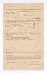 1885 February 9: Voucher, U.S. v. W.S. Clark, impersonating an officer of the United States; Bud T. Kill, deputy marshal