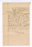 1885 March 17: Letter of certification, from William H.H. Clayton, attorney, certifying his examination of Thomas Boles, U.S. marshal, accounts; attached list of payments before court; Stephen Wheeler, clerk