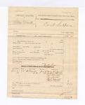 1885 June 5: Partial voucher, U.S. v. Blue Duck; includes cost of witness subpoena; Joseph Payne, deputy marshal; Nancy Bleubeard, Jackson Christie, William Christie, One Wolf, Hugh Wynick, Cleo Scott, witnesses