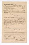 1885 June 6: Voucher, to Samuel Munn, of Kiowa, Choctaw Nation, for assisting George W. Pound, deputy marshal, in U.S. v. One Allen, U.S. v. One Jones, and others; Barr Shipp, James Colbert, Thomas Colbert, Hanley Vincent, Tom Caroll, One Jones, Julius Blair, Barney Riley, Walter Mickle, arrested; Stephen Wheeler, James Brizzolara, commissioners; Thomas Boles, U.S. marshal; John G. Farr, witness of signatures