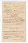 1885 May 26: to Charles A. Rivers, of Fort Smith, Arkansas, for assisting Joseph Payne, deputy marshal, in U.S. v. One Kee Kun, U.S. v. Mack Coats, U.S. v. Arch Backbone, U.S. v. William Christie and others; Stephen Wheeler, commissioner; G.S. Williams, deputy clerk; Thomas Boles, U.S. marshal