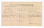 1886 May 7: Voucher, U.S. v. A.H. Gholson, larceny in the Indian Country; includes cost of per diem and mileage; Stephen Wheeler, commissioner; A.J. Copeland, Cyrus Copeland, Peyton Williams (line throught name), witnesses; John Paterson, witness of signatures; Thomas Boles, U.S. marshal