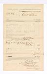 1885 September 5: Voucher, U.S. v. Bill Pidgeon; includes cost of mileage; James C. Wilkinson, deputy; Pauline Rogers, Mary Rogers, Aelia Rogers, witnesses; Stephen Wheeler, clerk; G.S. Williams, deputy clerk; Thomas Boles, U.S. marshal