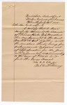1885 July 16: Letter of certification, from William H.H. Clayton, U.S. attorney; stating his careful examination of Thomas Boles, U.S. marshal, accounts