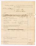 1885 July 21: Partial voucher, U.S. v. Abram V. Morgan; includes cost of summons; John Paterson, deputy marshal; Alexander Juzau, John R. Burdge, summons served
