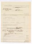 1885 August 28: Partial voucher, U.S. v William McClintock et.al; includes cost of per diem and mileage; Samuel Sixkiller, deputy marshal; Dave Stiman, William Overton, witnesses