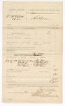 1885 September 24: Voucher, U.S. v. William McClintock et.al; includes cost of subpoena for witnesses; Samuel Sixkiller, deputy marshal; George Stevenson, W.S. Gitzendauer, Joseph Joms, William Young, witnesses; Stephen Wheeler, clerk; Thomas Boles, U.S. marshal
