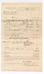 1885 August 27: Voucher, U.S. v. Dr. William Frank and William Frank Jr., larceny in the Indian Country; includes cost of warrant and mileage; Stephen Wheeler, commissioner; Tyner Hughes, deputy marshal; Elias Barker, posse comitatus; A.J. Griffith, Mrs. Lucy Griffith, J.W. Wilson, Mrs. J.W. Wilson, witnesses
