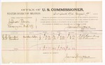 1885 August 19: Voucher, U.S. v. Jefferson Dixon, larceny in the Indian Country; includes cost of per diem and mileage; James Brizzolara, commissioner; E.B. Sanders, W.L. Sanders, witnesses; Thomas Boles, U.S. marshal