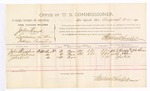 1885 August 22: Voucher, U.S. v. John Hays, larceny in the Indian Country; includes cost of per diem and mileage; Stephen Wheeler, commissioner; John Blackfox, George Ketchu, John Kirk, witnesses; John Patterson, witness of signatures; Thomas Boles, U.S. marshal