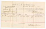 1885 August 26: Voucher, U.S. v. Frank Kerns, introducing liquor in the Indian Country; includes cost of per diem and mileage; Stephen Wheeler, commissioner; John Hendrick, witness; Thomas Boles, U.S. marshal