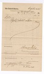 1885 August 25: Voucher, to D.M. Cantrell; includes cost for one load of straw; Thomas Boles, U.S. marshal; Stephen Wheeler, clerk
