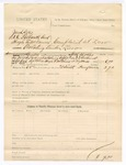 1885 August 28: Partial voucher, U.S. v. Jacobs Tocs, S.D. Gilbreath and Hugh A.McDaniel, violating timber law; includes cost of summons to court; Seth Boles, deputy marshal