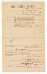 1885 September 1: Voucher, to John Paterson; includes cost for services rendered as bailiff; Thomas Boles, U.S. marshal; Stephen Wheeler, clerk; S.A. Williams, deputy clerk