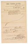 1885 September 1: Voucher, to Seth Boles; includes cost for services rendered as bailiff; Thomas Boles, U.S. marshal; Stephen Wheeler, clerk; S.A. Williams, deputy clerk