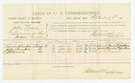 1885 September 9: Voucher, U.S. v. John Lewis, larceny in the Indian Country; includes costs of per diem and mileage; Lucinda Chambers, Jack Chambers, J.H. Turner, witnesses; John Paterson, witnes to signatures; Thomas Boles, U.S. marshal; Stephen Wheeler, commissioner and clerk