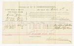 1885 September 11: Voucher, U.S. v. Charles Allen, introducing liquors into the Indian Country; includes costs of per diem and mileage; John M. Taylor, Albert Stevenson, J.R. Rhodes, witneses; John Paterson, witness to signatures; Thomas Boles, U.S. marshal; Stephen Wheeler, commissioner and clerk