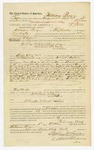 1885 October 5: Voucher, to William Perry, of Fayetteville, Arkansas, for assisting W.F. Jones, deputy marshal, in U.S. v. William Ross, William Rodgers, Pate Martin, Fred Martin, Ike Martin, and others; Stephen Wheeler, E.B. Harrison, commissioners; John Fogg, Chew-naw, Frank Payne and Jerry Steury, arrested; S.A. Williams, deputy clerk; Thomas Boles, U.S. marshal