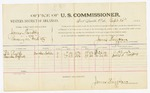 1885 September 14: Voucher, U.S. v. James Humphry, larceny in Indian Country; includes costs of per diem and mileage; B.A. Rush, Lucinda Wofford, witnesses; Thomas Boles, U.S. marshal; James Brizzolara, U.S. commissioner; Stephen Wheeler, clerk