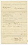1885 November 19: Voucher, U.S. v. Bradford Johnson; includes costs of witness subpoena; Martha Lelland, witness; George W. Pound, deputy marshal; Stephen Wheeler, clerk; S.A. Williams, deputy clerk