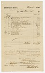 1885 October 5: Voucher, to H. Stone and Co.; including costs for buckets, soap, broom and other supplies for the use of U.S. jail; Charles Burns, jailor; Stephen Wheeler, clerk; John Carroll, U.S. marshal; Thomas Boles, U.S. marshal