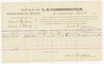 1885 September 22: Voucher, U.S. v. Samuel Thompson, larceny in Indian Country; includes costs of per diem and mileage; William Fields, witness; Thomas Boles, U.S. marshal; James Brizzolara, U.S. commissioner; Stephen Wheeler, clerk