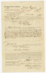 1885 October 11: Voucher, to Michael Garland, of Wheelock, Indian Country, for assisting John G. Farr, deputy marshal, in U.S. v. James Clay, U.S. v. Lewis Austin, U.S. v. One Edwards and others; William Summers, Sarah Green, Sam Thompson, arrested; Stephen Wheeler, U.S. commissioner; S.A. Williams, deputy clerk; Thomas Boles, U.S. marshal