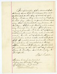 1885 September 25: Statement, from Samuel Sixkiller, regarding the attempted arrest and death of One Cooper, convict; James Lasley, convict; Stephen Wheeler, clerk