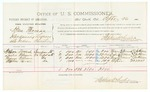 1885 September 26: Voucher, U.S. v. Ben Thomas, introducing liquor into Indian Country; includes costs of per diem and mileage; Nelson Forrest, Luster Williams, Thomas Williams, Stephen Forrest, witnesses; John Paterson, witness of signatures; Thomas Boles, U.S. marshal; Stephen Wheeler, commissioner