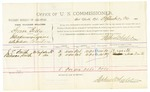 1885 September 26: Voucher, U.S. v. Simon Billy, introducing liquors into Indian Country; includes costs of per diem and mileage; J.E. Smith, Rebecca Smith, witnesses; Thomas Boles, U.S. marshal; Stephen Wheeler, commissioner