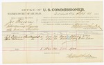 1885 September 28: Voucher, U.S. v. Joe Bascom, introducing liquors into Indian Country; includes costs of per diem and mileage; A.J. Collins, Brice Folsom, witnesses; Thomas Boles, U.S. marshal; Stephen Wheeler, commissioner