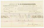 1885 September 28: Voucher, U.S. v. R.D. Baker, larceny in Indian Country; includes cost of per diem and mileage; Jimpson Jones, Joe Shelttesworth, Robert Shelttesworth, witnesses; John Paterson, witness to signatures; Thomas Boles, U.S. marshal; James Brizzolara, commisioner