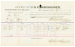 1885 September 28: Voucher, U.S. v. Sam Coats, introducing liquors into Indian Country; includes costs of per diem and mileage; James Coats, John Martin, Jim West, witnesses; Thomas Boles, U.S. marshal; Stephen Wheeler, commssioner