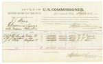 1885 September 28: Voucher, U.S. v. J.J. Stone, introducing liquors into Indian Country; includes costs of per diem and mileage; W.W. Richards, L.W. Lennet, J.R. Still, witnesses; Thomas Boles, U.S. marshal; Stephen Wheeler, commissioner