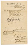 1885 October 1: Voucher, to Jacob A. Hammersly; includes cost for services rendered as bailiff including for U.S. v. Remington and Wells, murder; Thomas Boles, U.S. marshal; Stephen Wheeler, clerk; S.A. Williams, deputy clerk
