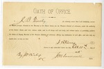 1885 October 11: Oath of Office, sworn by J.B. Tinsley; J.M. Someroell, clerk; J.W. Bishop, deputy clerk