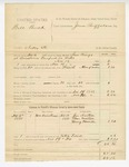 1885 November 20: Partial voucher, Bill Buck, introducing spirituous liquor into Indian Territory; includes cost of warrant and mileage; Jim Morton, Clem Morton, Henry Howell, witnesses; Sam Mingo, deputy marshal; James Brizzolara, commissioner