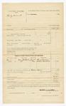1885 November 11: Partial voucher, U.S. v. Henly Vincent; Henry Brown, William Campbell, witnesses; C.C. Hamilton, deputy marshal