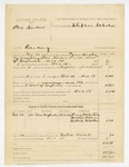 1885 December 18: Voucher, One Harker, larcerny in the Indian Country; includes cost of feeding prisoner and mileage; Thomas McIntosh, Walter Pittman, Eddie Walker, witnesses; Tymer Hughes, deputy marshal