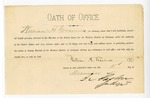 1885 December 11: Oath of office, sworn by William H. Cravens, deputy marshal; signed by Isaac C. Parker, judge; Stephen Wheeler, clerk
