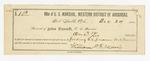 1885 December 24: Receipt, received of John Carroll, U.S. marshal; U.S. v. Bob Morris; includes expenses for feeding prisoner; William Mc. H. Morris, deputy marshal