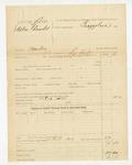 1885 December 30: Partial voucher, U.S. v. Stephen Edwards, murder; includes cost of discharging prisoner; George Williams, deputy marshal; James Brizzolara, commissioner