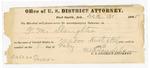 1886 February 1: Notice, for G.M. Slaughter in U.S. v. Madro Hurt, et.al; M.H. Sandels, U.S. district attorney