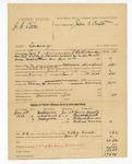 1886 January 18: Partial voucher, U.S. v. J.G. Little, larceny; includes cost of warrant, mileage, and feeding prisoner; James Beatty, Randolph Willis, Richard Francis, Rachael Morgan, witnesses; J.E. Richardson, deputy marshal; John D. Tufts, commissioner