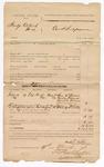 1886 March 19: Voucher, U.S. v. Hardy Colbert et.al; includes cost of subpoenas; Sam McIntosh, Charley Foreman, Amanda Foreman, Gerald Lewis, witnesses; Bud T. Kell, deputy marshal; Stephen Wheeler, clerk; S.A. Williams, deputy clerk; John Carroll, U.S. marshal